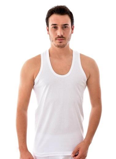 Seher Yıldızı 6 Adet 0001 Erkek Penye Askılı Atlet BEYAZ Beyaz